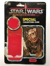 Star Wars Vintage WAROK EWOK Power of the Force Kenner 1985 Cardback