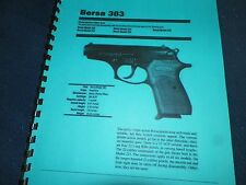 BERSA,  MODEL 383,  380 ACP,    OWNERS MANUAL,  9 PAGES