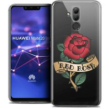 """Coque Gel Pour Huawei Mate 20 Lite (6.3"""") Souple Tatoo Lover Red Rose"""
