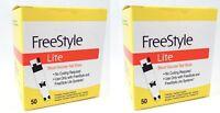 SALE 100 (50*2) Freestyle Lite Diabetic Glucose Blood Test Strips Exp 02/2020