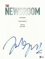 JOHN GALLAGHER JR. SIGNED AUTOGRAPHED THE NEWSROOM FULL SCRIPT BECKETT BAS COA 2