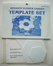 "Hexagon Flower Garden plastic templates for quilt quilting 1 1/2"" 2 1/2"" 3 1/2"""