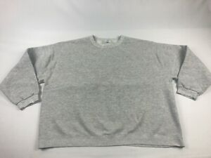 Vintage USA 80s CHEETAH Crewneck Sweatshirt Men's XL ~ Pale Gray