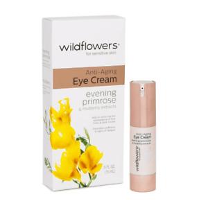 Wildflowers Anti-Aging Eye Cream Evening Primrose & Mulberry Extracts 0.5 oz