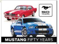 Ford Mustang Metal Tin Sign 50th Anniversary Garage Bar  Man Cave Bar Shop New