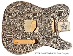 Electric Guitar Body Alder Laser Etched Walla Company Tele Telecaster