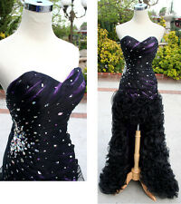 NWT Xcite Prom 30193 Black Violet  $698 Formal Gown 2