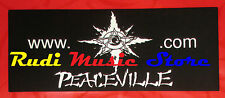 ADESIVO STICKER PEACEVILLE 15X6 CM cd dvd lp mc vhs promo live