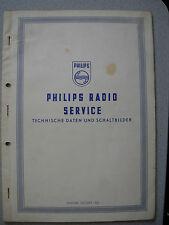 Philips Radio Service Technische Daten und Schaltbilder Stand 10/54, siehe Liste