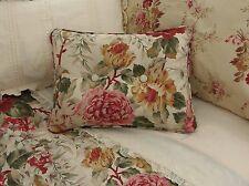 NEW Custom Ralph Lauren Post Road Floral Accent Pillow 2 Button Duvet Fabric