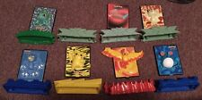 Lot Of 7 Burger King 2000 Pokemon Power 3D Cards w stands
