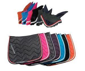 Saddle Pad & Fly Veil MATCHY SET Numnah/Ears Horse Cob or Pony Size FREE PP