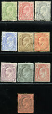 TURKS & CAICOS 1909 SG 117-26 SC 13-22 VF USED - COMPLETE SET 10 STAMP