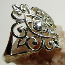 Avon Sterling Silver Vintage Scroll Ring - sz 8 - New in Box