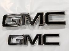 2015-2019 GMC Canyon Grille and Tailgate GM Black Emblems Chrome Edge 84380554