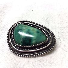 Vintage  1950's Sterling Silver And Eilat  Brooch Pin Pendant
