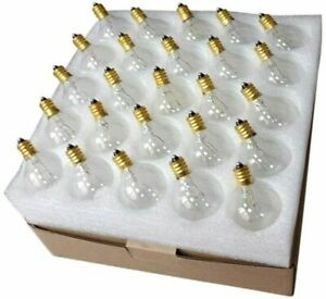 25 Pack G40 Replacement Bulbs 7 W G40 Globe Bulbs for String Lights Fits E12 C7.