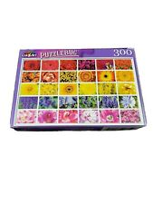 New Jigsaw Puzzle 300 Piece Colorful Flower Collage