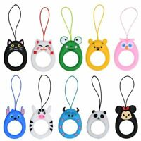 3D Cartoon Lovely Silicone Disney Phone Finger Ring Strap Short Lanyard Pendant