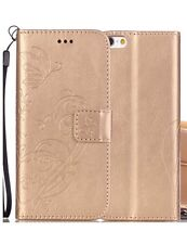 Generic iPhone 7 Leather Wallet Case, Gold