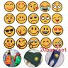 20Pcs/Set Mixed Emoji Iron on Embroidery Cloth Patches For Clothing Jeans Jacket