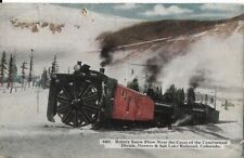 rotary snow plow near crest of continental d moffit road colorado postcard