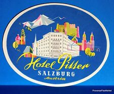 Hotel  PITTER SALZBURG  AUSTRIA   Original  luggage label  BD88