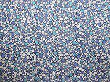 Baumwollstoff, kleine Kringel, Farbe dunkelblau, royalblau, türkis, creme, 140cm