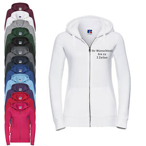 Russell Damen-Hoodiejacke Kapuzenjacke individuell bestickt 14 Farben Gr. XS-XL