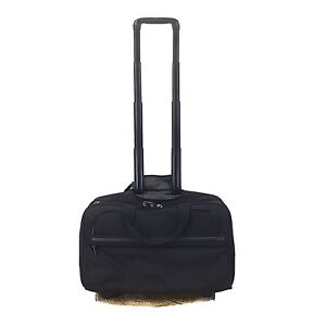 TUMI Alpha Black 2-Wheeled Compact Briefcase Laptop Case Carry On 26124DH
