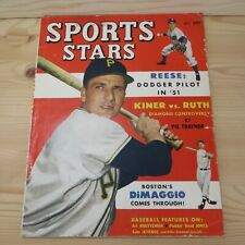 SPORTS STARS MAGAZINE BASEBALL - OCTOBER 1951 RALPH KINER / REESE / DOM DIMAGGIO