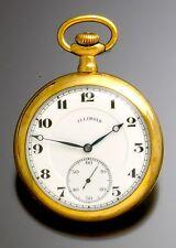 Illinois Pocket Watch w/ Double Sunk Dial 17 Jewel Movement 16 Size Case CA1918