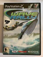 WAVE RALLY - PS2 - COMPLETE W/ MANUAL - FREE S/H - (T7)