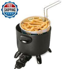 6qt Electric Deep Fryer Basket Commercial Restaurant Home Kitchen Cooker Steamer