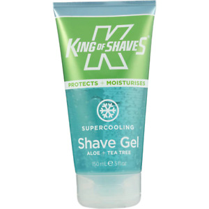 King Of Shaves Men Shaving Gel Alphagel Cooling Menthol Aloe Vera Tea Tree 150ml