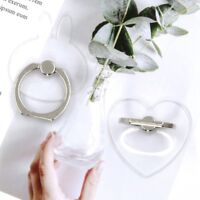 Mobile Phone Transparent Finger Ring Stand Holder Smartphone Heart Cat lskn