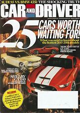 Car & Driver Apr 2014 - Shelby GT350 - Ford F-150 - BMW M2 - Audi S5 - BMW 435i