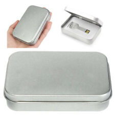 Small Metal Tin Silver Storage Box Organizer For Money Coin Wedding Candy Key