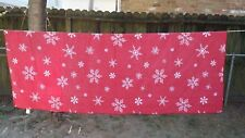 """Print Red White Snowflake Christmas Rectangle 78""""X60"""" Tablecloth Free Shipping"""