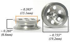 "TRADESHIP 1/24 1/32 Slot Car ALUMINUM FRONT WHEEL 5/40 Thread .26x.755"" 6.6x19mm"