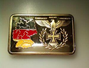 third reich hitler coin ingot medal