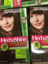 3 X Garnier Herbashine Hair color #535 Medium Gold Mahogany Brown AMMONIA FREE