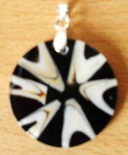 Anhänger für Halskette rund Muschel/Resin  Durchm. 28 mm Naturschmuck