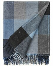 100% Pure Wool Throw by Avoca (Design: Denim) - Made in Ireland