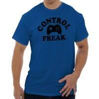 Control Freak Video Gamer Gaming Nerd Geek Adult Short Sleeve Crewneck Tee
