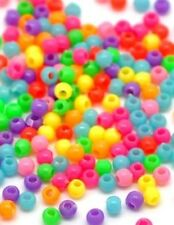 100+ Mixed Coloured Plastic Beads. 3mm In Size ~ Going Cheap ~very small Beads