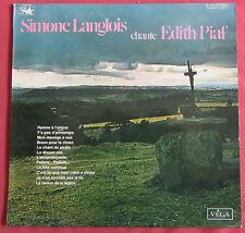 SIMONE LANGLOIS  LP ORIG FR  CHANTE EDITH PIAF DEDICACE AUTOGRAPHE