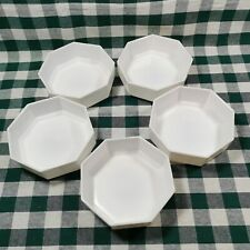 Set of 5 Vintage Arcoroc Octime White Soup or Cereal Bowl 5 5/8""