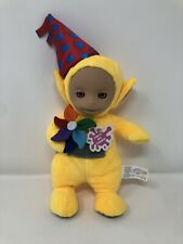 Teletubbies Toy Party Laa-Laa Talking Plush Soft Toy With Hat & Pin Wheel NEW