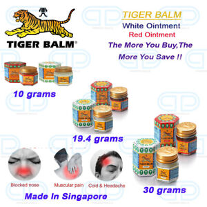 TIGER BALM Red & White 10g ,19.4g, 30g Pain Relief Muscular/Headache/Joint Aches